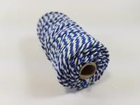 Macrame touw 2mm/43meter 890030_3223 Blauw-Wit