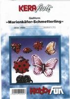 Gietvorm HobbyFun 2000205 Vlinders + Lieveheersbeestjes