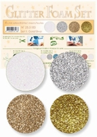 Leane Creatief 25.5183 Glitter Foam set 1 goud zilver wit