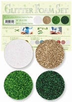 Leane Creatief 25.5190 Glitter Foam set 2 Green tones