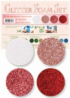 Leane Creatief 25.5213 Glitter foam set 4 Red tones