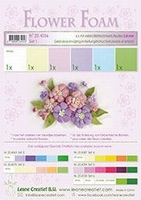Leane Creatief Flower Foam 25.4056 set 1 Pastel tinten