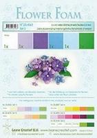 Leane Creatief Flower Foam 25.4063 set 2 Blauw/Violet tinten