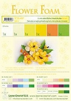 Leane Creatief flower Foam 25.4087 set 4 Gele bloemtinten