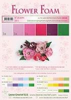 Leane Creatief Flower Foam 25.4094 set 5 Roze/Rood tinten