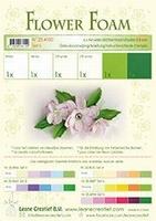 Leane Creatief Flower Foam 25.4100 set 6 Wit-Groene tinten