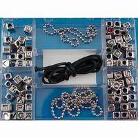Darice Aplha Beads 1930-20 zilveren letterkralen set