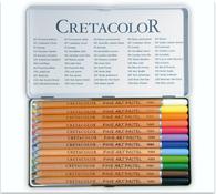 Cretacolor 24-012 Fine Art Pastel Potloden blik 12stuks ass.