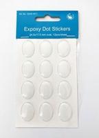 H&C Fun 12445-4511 Epoxy DOT stickers Ovaal transparant