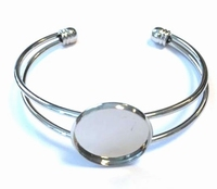 H&C Fun 12354-5401 Armband met rond plateau 20mm