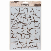 Stencil AMI234402 Rock Wall A4