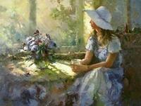 Diamond Painting X084-3040 Schilderij Meisje met hoed