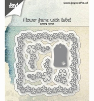 JoyCrafts Cutting Stencil 6002/1166 Flower frame + label