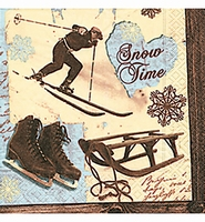 Paper Design servet Snow Time 60778 / 5 stuks