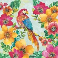 NIEUW Servetten Ambiente 1330_8195 Papagaai