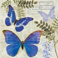 NIEUW Servetten Ambiente 1331_3355 Vlinder Blue Morpho