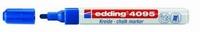 Edding 4095-003 Chalkmarker/Windowmarker Blauw