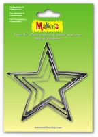 Makins clay Cutterset groot 36504 Star 4 stuks