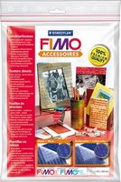 FIMO texture sheet set 874404: Muziek en Calligraphy