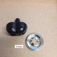Veiligheidsneus, Bereneus zwart 15mm per 3 stuks