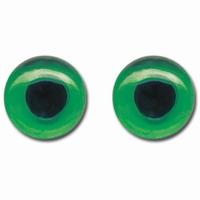 Meyco 23330 Glazen poppenogen groen 8mm, 2 paar
