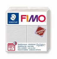 Fimo Soft effect leather 029 Ivory white NIEUW 4-2019
