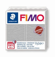 Fimo soft effect leather 809 Dove grey NIEUW 4-2019