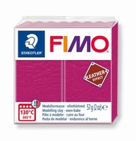 Fimo Soft 229 effect leather Berry