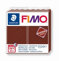 Fimo Soft 779 effect leather Nuth brown