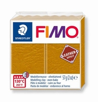 Fimo Soft effect leather 179 Ochre yellow NIEUW 4-2019