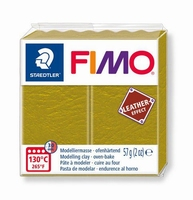 Fimo Soft effect leather 519 Olive green NIEUW 4-2019