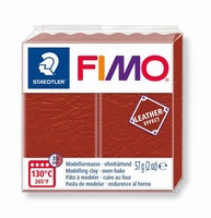 Fimo Soft 749 effect leather Rust brown