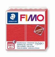 Fimo Soft effect leather 249 Watermelon red NIEUW 4-2019