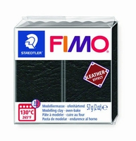 Fimo soft effect leather 909 Black NIEUW 4-2019