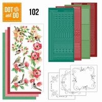 DOT and DO set 102 Tuin klassiekers bloemen/vogels