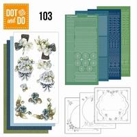 DOT and DO set 103 Fantastische bloemen (blauwgrijs)
