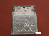 Padico Soft Mold ML052 Heart/harten