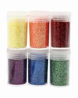 DECO 28589 Glitter pots 6x5gram, 6 kleuren