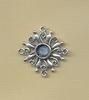 Ornament vierkant antiek zilver voor strass 7mm 2 cm