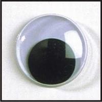 Ogen: Veligheids wiebelogen zwart/wit 12mm 4826512