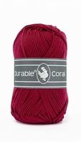 Durable Coral katoen  222 Bordeaux