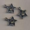 Bedel sterretje zilver met ruimte voor 4 mm strass 10 mm