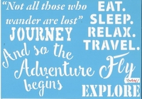 Pronty blue Stencil 470.529.009 Travel quotes 2