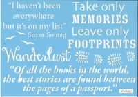 Pronty blue Stencil 470.529.008 Travel quotes 1