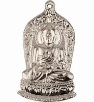 Ornament Budha antiek zilver 4 cm