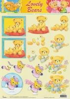 Studio Light 3D knipvel STAPLB07 Lovely Bears 7, rood kusse