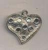 Ornament hart met ruimte voor 4 mm strass gladde achterkant 2,5 cm