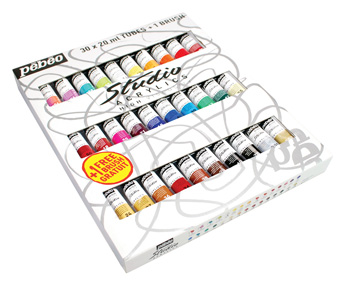 Pebeo 833431 Studio High Viscoity Acrylics set 30x20ml