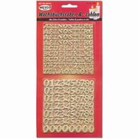 Meyco 36299 Wasletters en cijfers - Goud (voor op kaarsen)