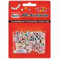 Meyco 132-92 ABC bastelperlen/letterkralen wit/gekleurd